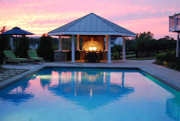 Traditional Pool by Outdoor Spaces
