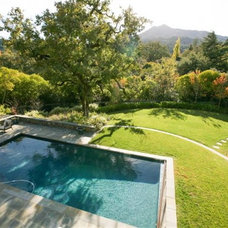 Traditional Pool by BRADANINI & ASSOCIATES