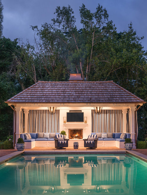 75 Trendy Traditional Pool House Design Ideas - Pictures of ...