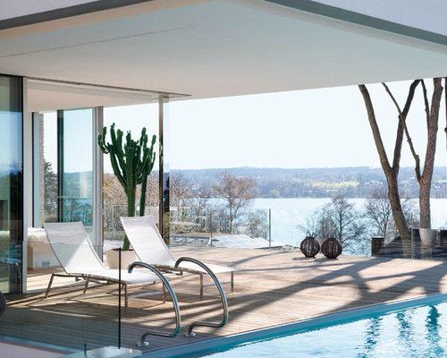 einrichtungsidee fr mittelgroe skandinavische lap pools neben dem haus in rechteckiger form mit dielen in - Pool Design Ideen Bilder