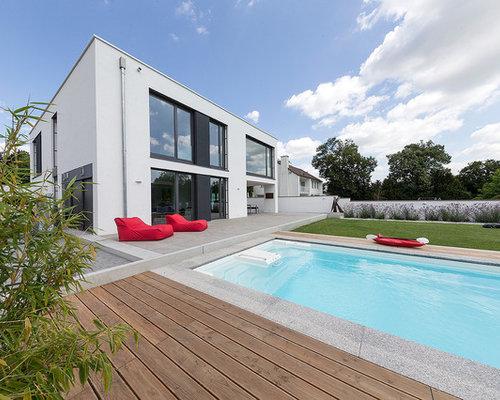 Modernes haus mit pool in deutschland  Moderner Pool in Deutschland: Design-Ideen, Bilder & Beispiele