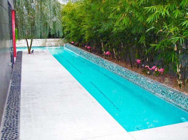 Midcentury Swimming Pool & Hot Tub by modland design llc