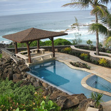 Tropical Pool by Luke Busker Masonry LLC