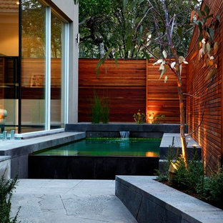 Inspiration for a contemporary rectangular pool in Melbourne.