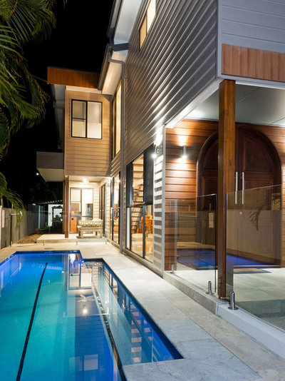 Modern Pool by Boulter Built Homes