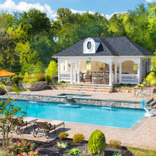 Traditional Pool by Advantage Landscaping