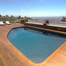 Contemporary Pool by Tuggey Construction