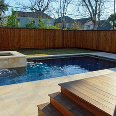 Contemporary Pool by Blackbird Landscapes