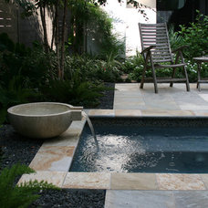 Contemporary Pool by RH Factor Landscape Design