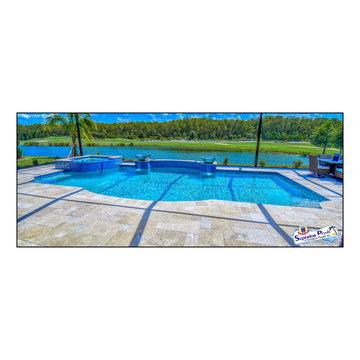 (Heller) Bonita Springs, FL Superior Pools Custom Swimming Pool/Spa/Raised Area
