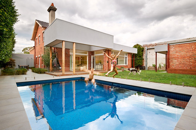 Contemporary Pool by Cathi Colla Architects