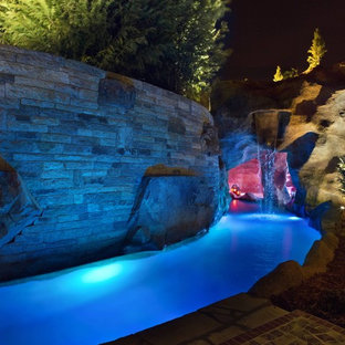 "HGTV's ""Cool Pools-Scuba Pool"" Swim Through Grottos, Lazy River & Waterfalls"