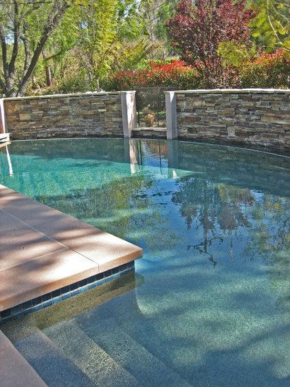 Contemporary Pool by Stephanie Ann Davis Landscape Design