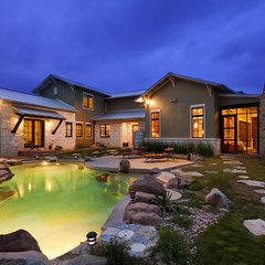 eclectic pool by New Urban Home Builders