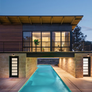 Inspiration for a country pool in Austin.