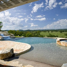 Traditional Pool by Tony Roberts Custom Homes