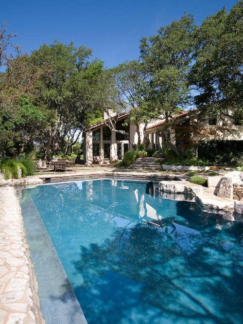 Modern texas hill country ranch home design ideas for Rustic pools