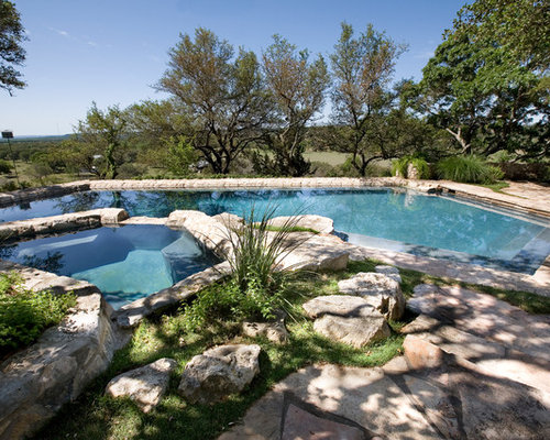Mid Sized Traditional Pool Design Ideas Renovations Photos
