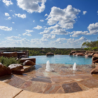 Example of an eclectic pool design in Austin