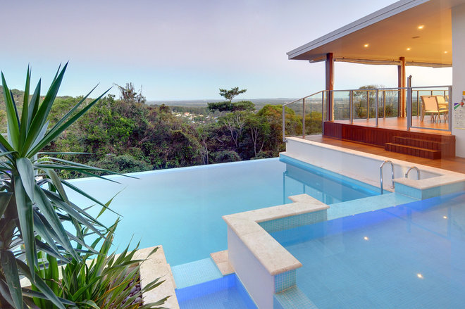 Contemporary Pool by Soul Space