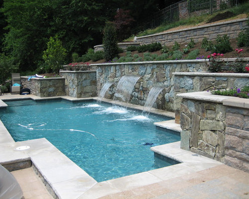 Hillside pool chevy chase maryland for Pool design hillside