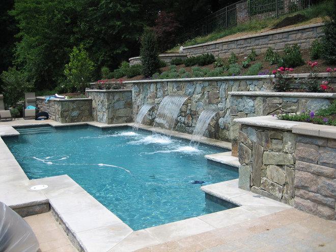 Modern Pool by Land & Water Design