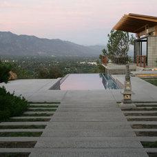Contemporary Pool by Lenkin Design Inc: Landscape and Garden Design