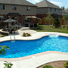 Traditional Pool by Earthscape - Landscape Design & Build