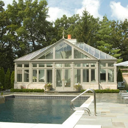 Hipped Roof Pool House Conservatory - Photo by James Licata