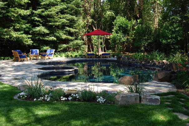 Traditional Pool by John Montgomery Landscape Architects