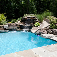 Traditional Pool by Thomas Flint Landscape Design & Development