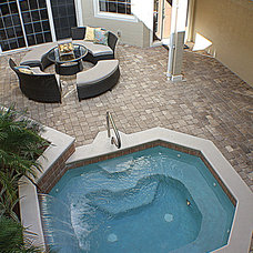 Traditional Pool by Staging & ReDesign