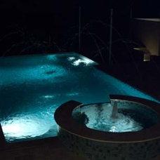 Mediterranean Pool by Panache development & construction Inc Custom home
