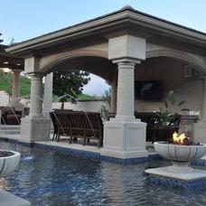 Mediterranean Pool by Cornell Custom Homes, Inc
