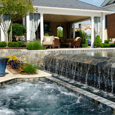 Traditional Pool by Inviting Spaces