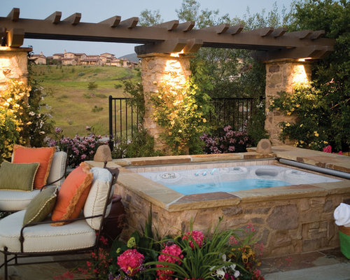 Backyard spa houzz for Hot tub designs and layouts