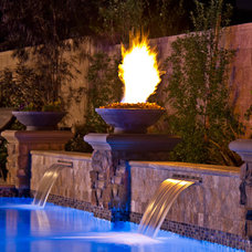 Mediterranean Pool by Solage Landscape Exteriors