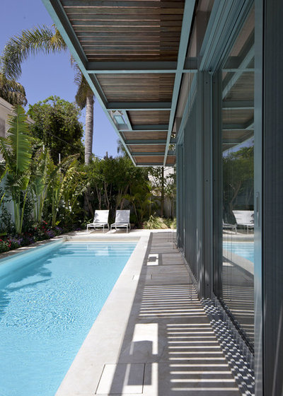 Modern Pool by Amitzi Architects
