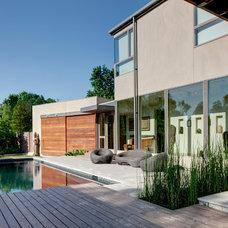 Modern Pool by Marc McCollom Architect