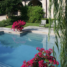 Mediterranean Pool by McDugald-Steele Landscape Architects