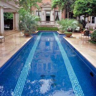 Example Of A Classic Backyard Rectangular Lap Pool Design In Houston