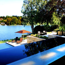 Modern Pool by KrisCo Aquatech Pools & Spas