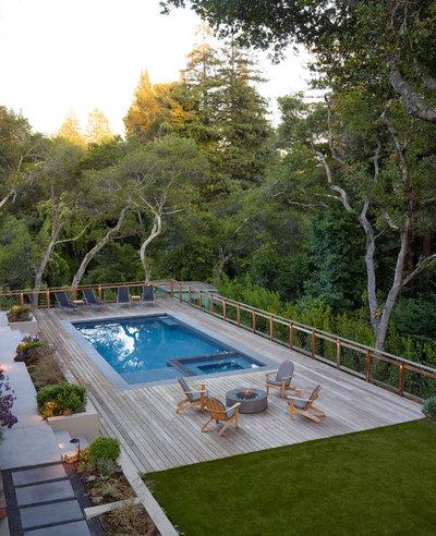 Minimalistisch Pools by David Thorne Landscape Architect