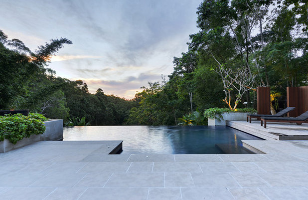 Tropical Pool by Living Style Landscapes