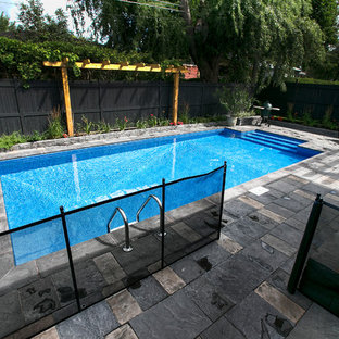 In-ground Pool with Large built in steps