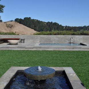 Идея дизайна: прямоугольный бассейн в стиле модернизм