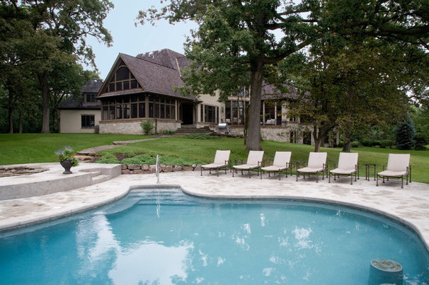 Traditional Pool by Orren Pickell Building Group