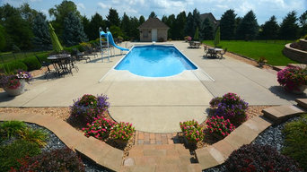In Ground Vinyl Liner Swimming Pool Installations
