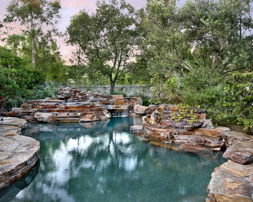 Moss Rock Pool Coping | Houzz