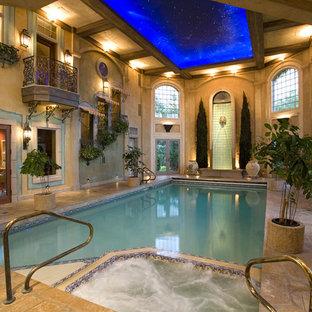 Example of a classic indoor pool design in Minneapolis